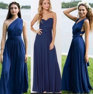 NAVY BLUE INFINITY FULL LENGTH DRESS STRAPPY
